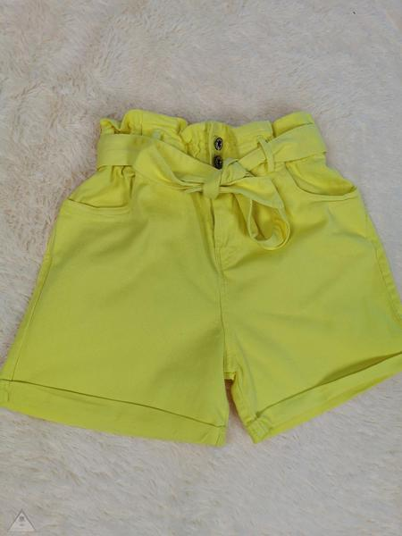 Shorts jeans Giallo