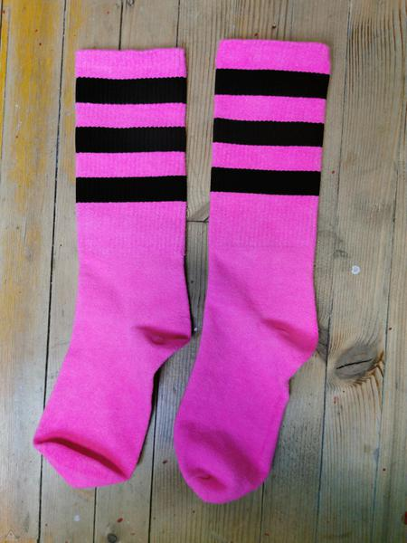 Calze Stripes Fuxia Fluo