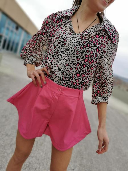 Camicia Leopardata Splash