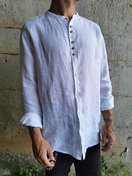 Camicia Lino White