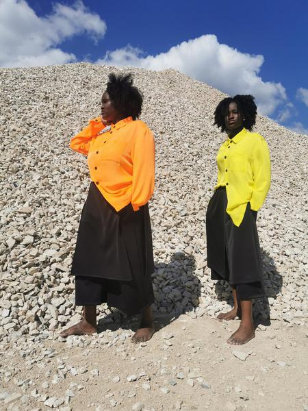 Camicia Orange Fluo