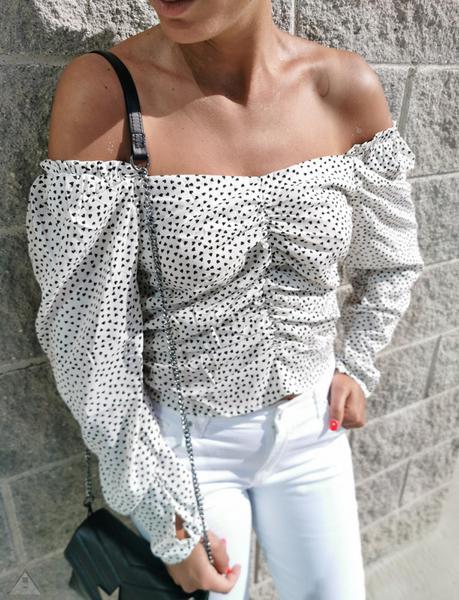 Crop Top Cuore White