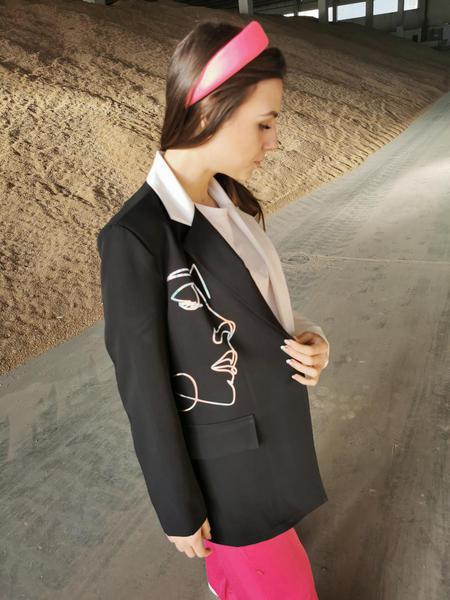 Giacca Oversize Black&White