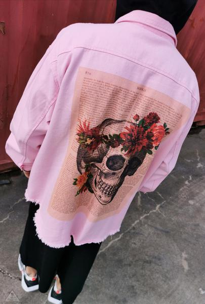 Giacca Pink Teschio
