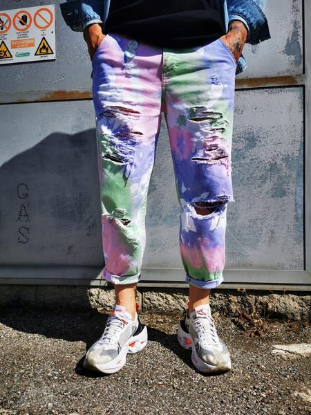 Jeans Baggy Tie Dye Mix