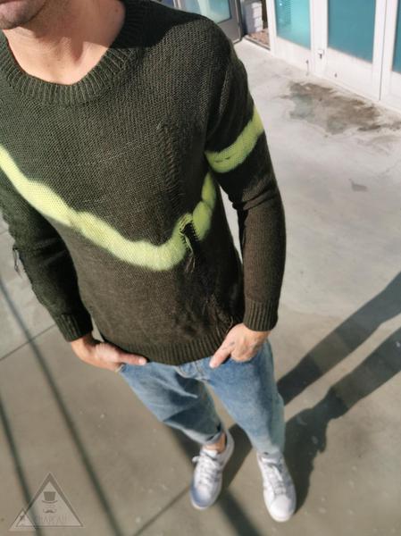 Maglione Tie Dye Fluo
