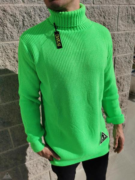 Maglione Authentic Verde Fluo