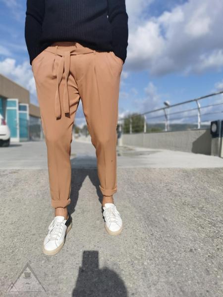 Pantalone Laccio Beige