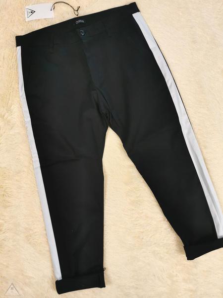 Pantalone Nero Banda bianca