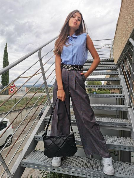 Pantalone Quadretto Multicolor