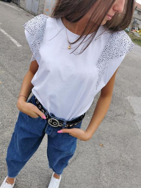 T-Shirt Bianca Tulle Floc