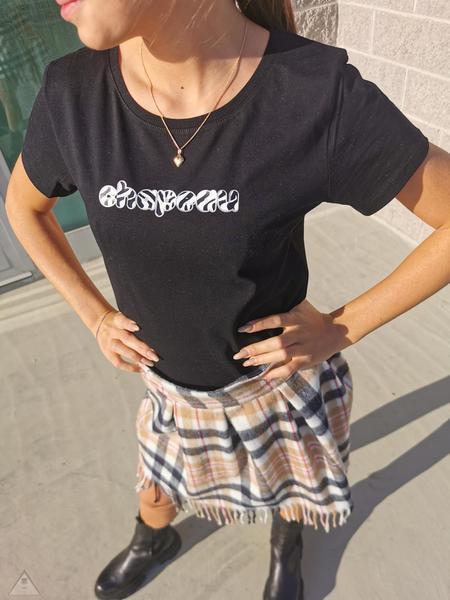 T-Shirt Nera Zebra