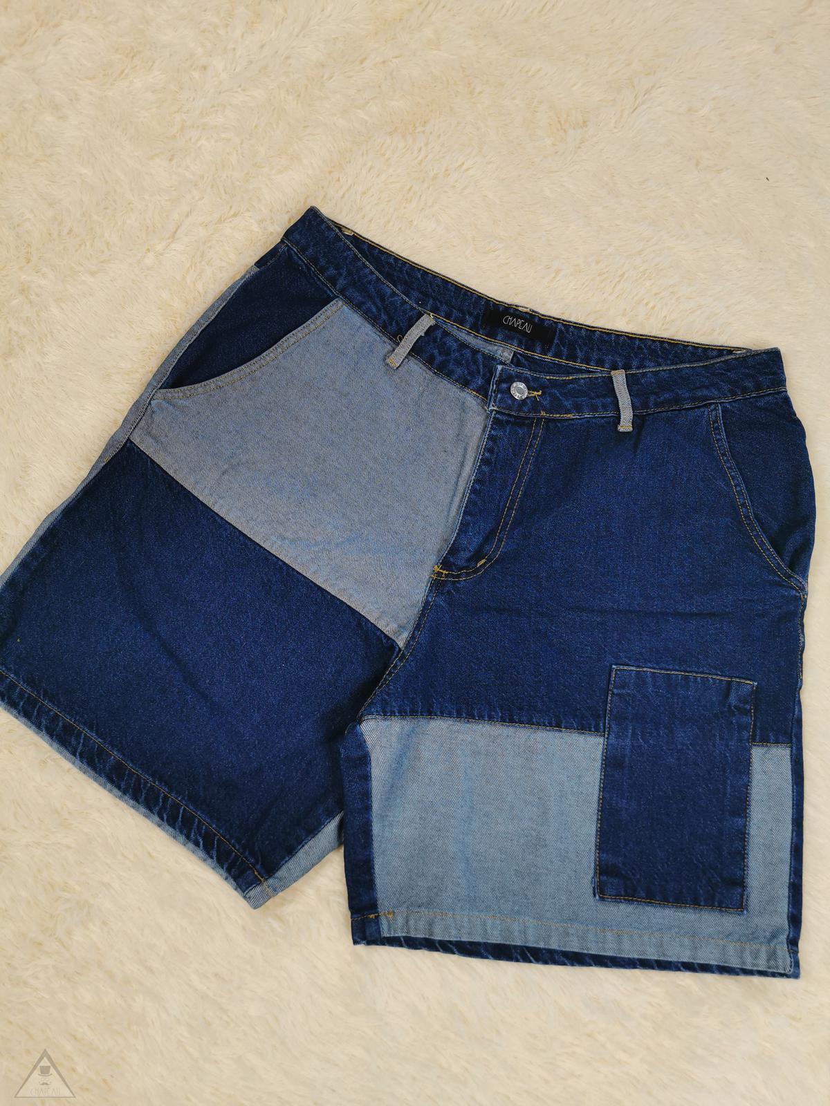 Bermuda Patchwork jeans