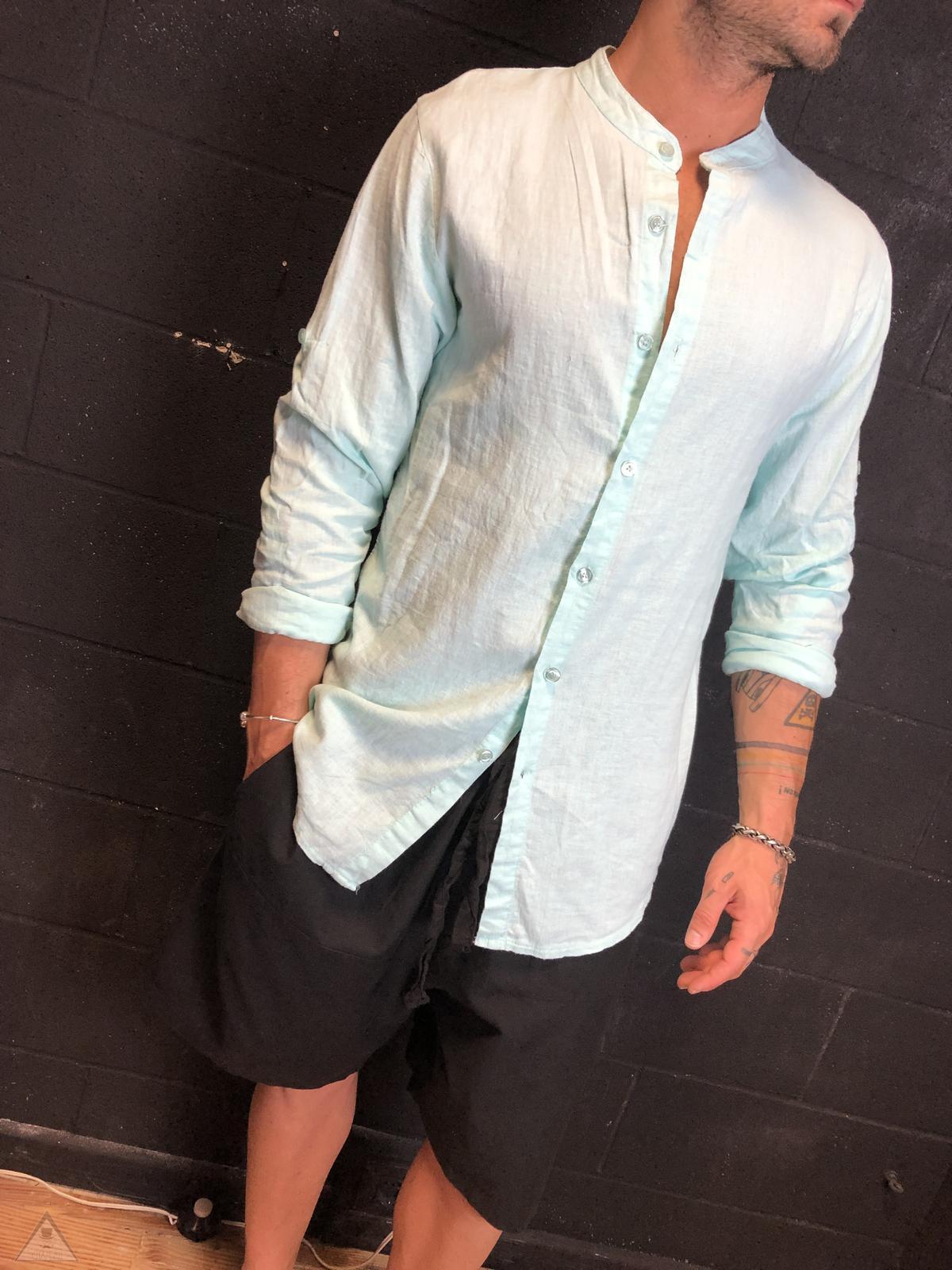 Camicia in Lino CartaZucchero