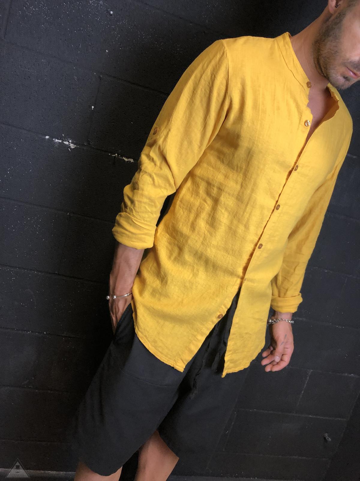 Camicia in Lino Senape
