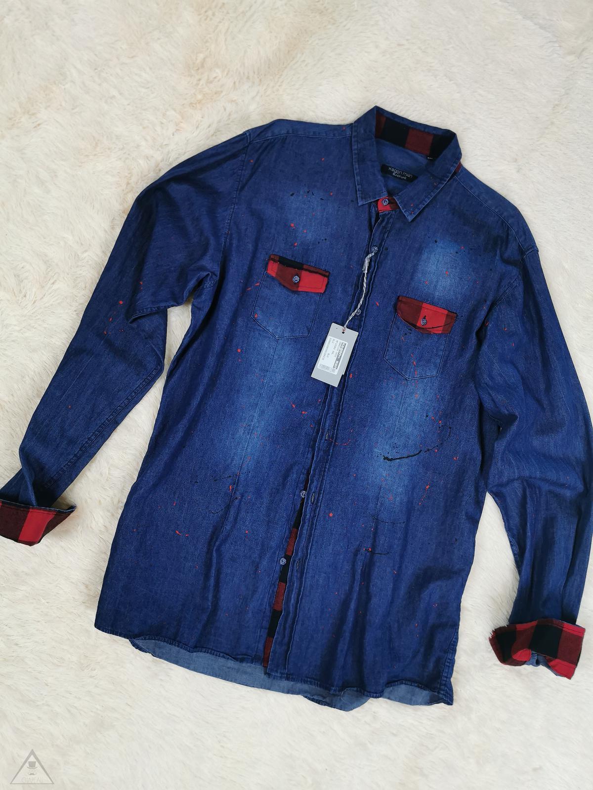 Camicia jeans rifinitura