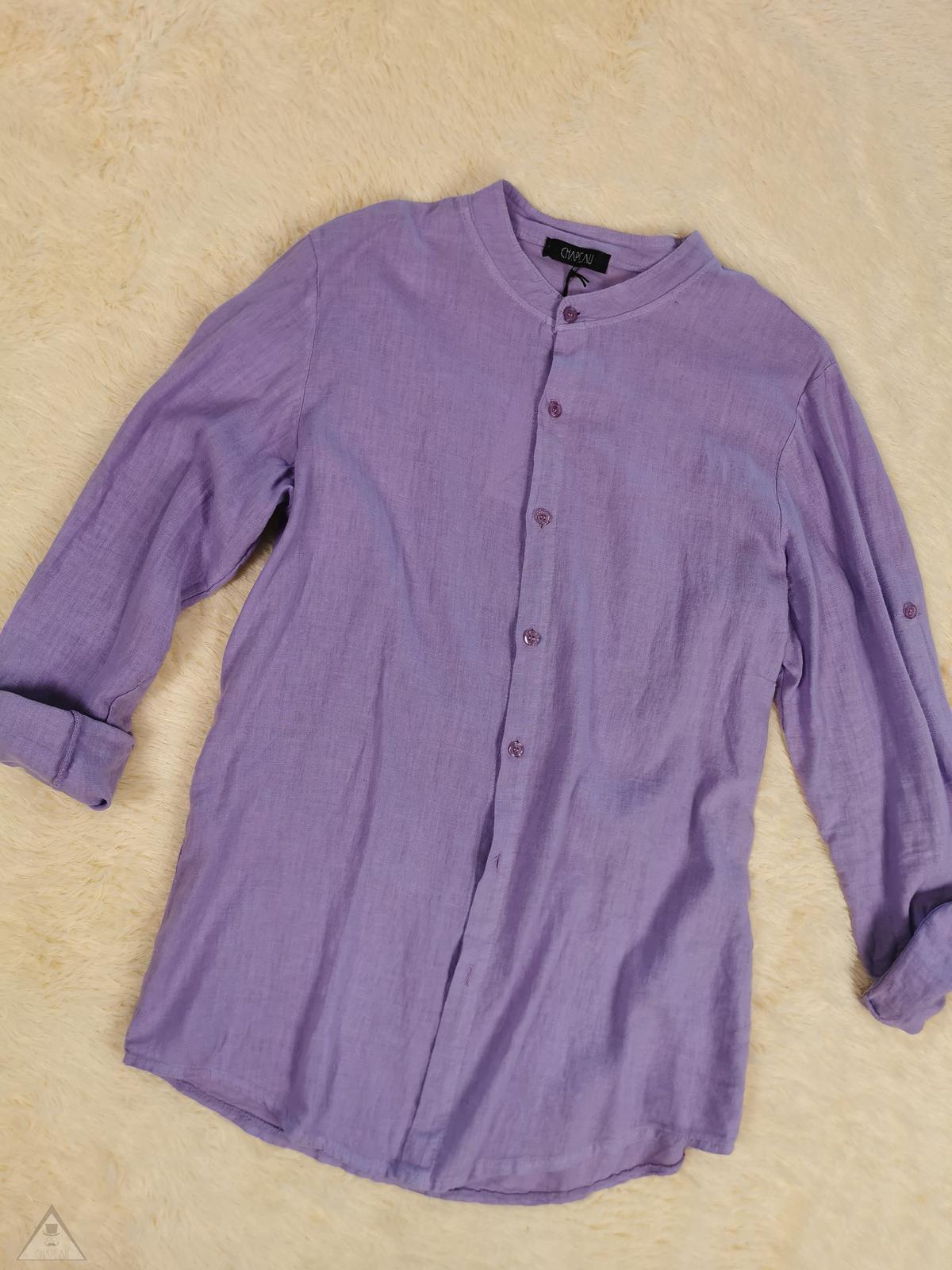 Camicia Lino lilla