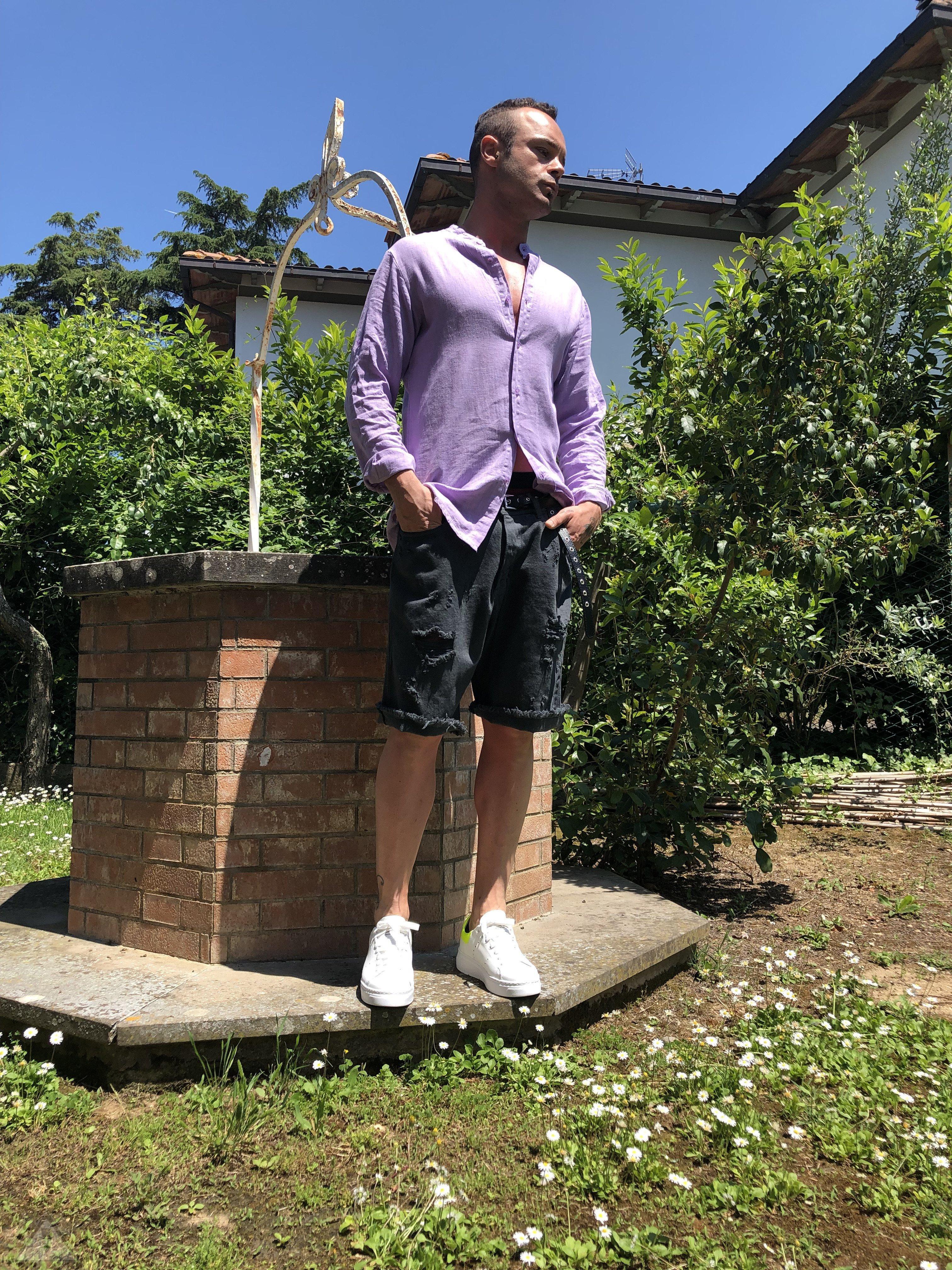 Camicia Lino Violetta