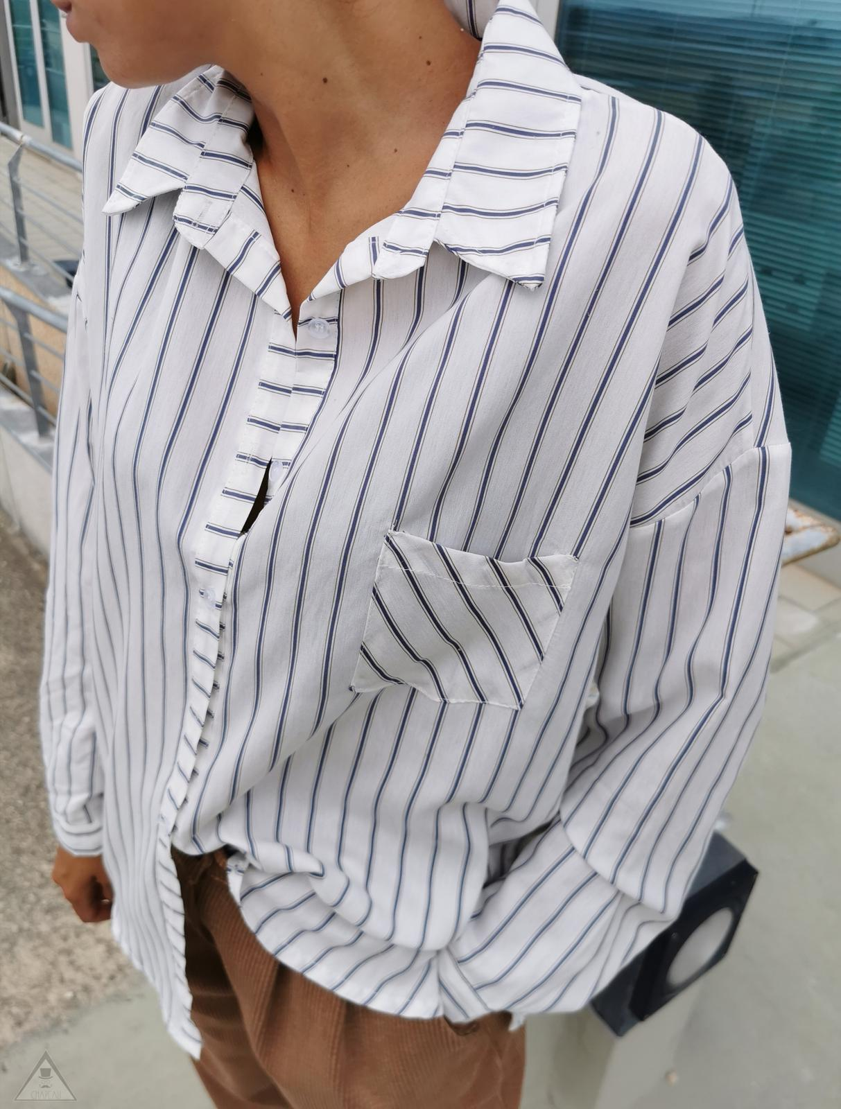 Camicia Over Gessata