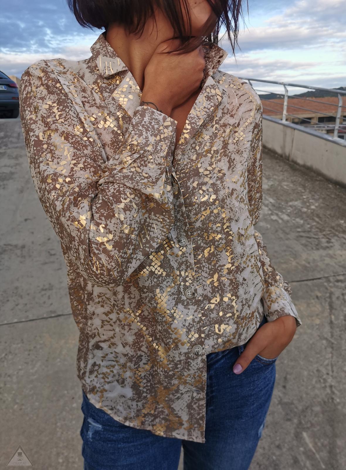 Camicia Pitone Oro