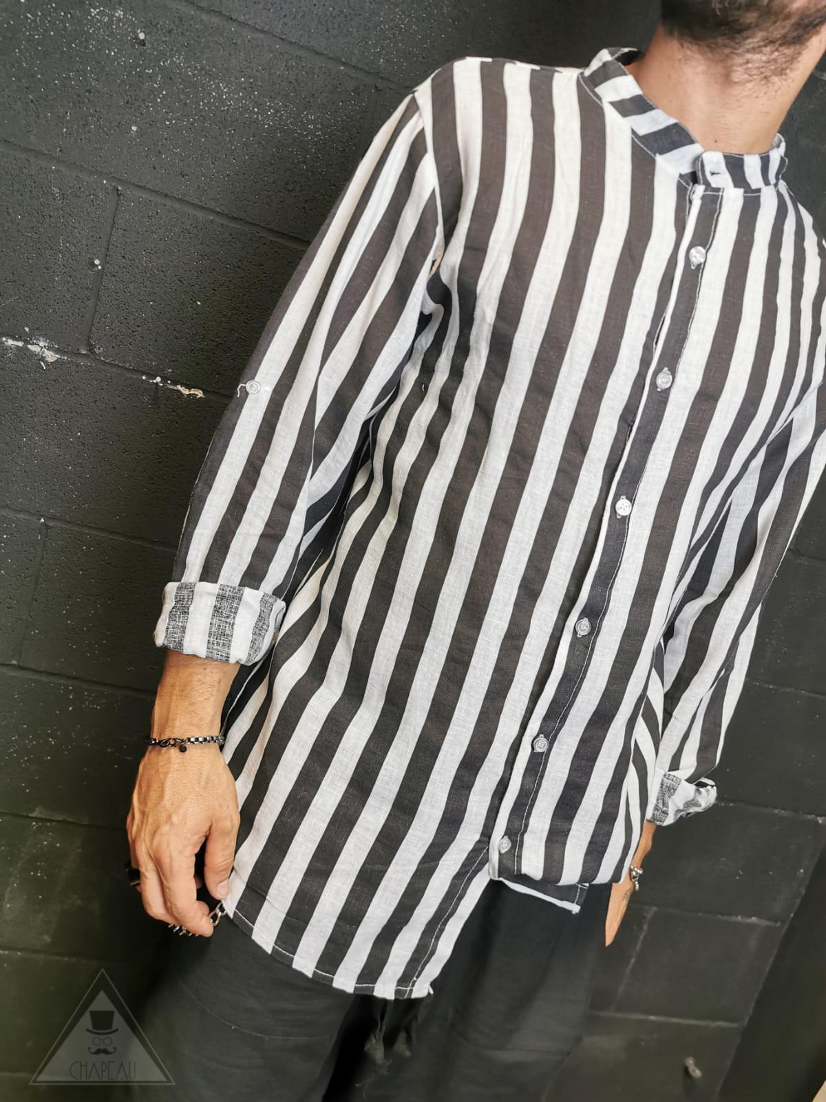 Camicia Rigata Black
