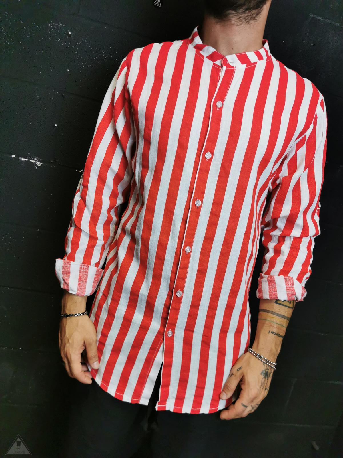 Camicia Rigata Red