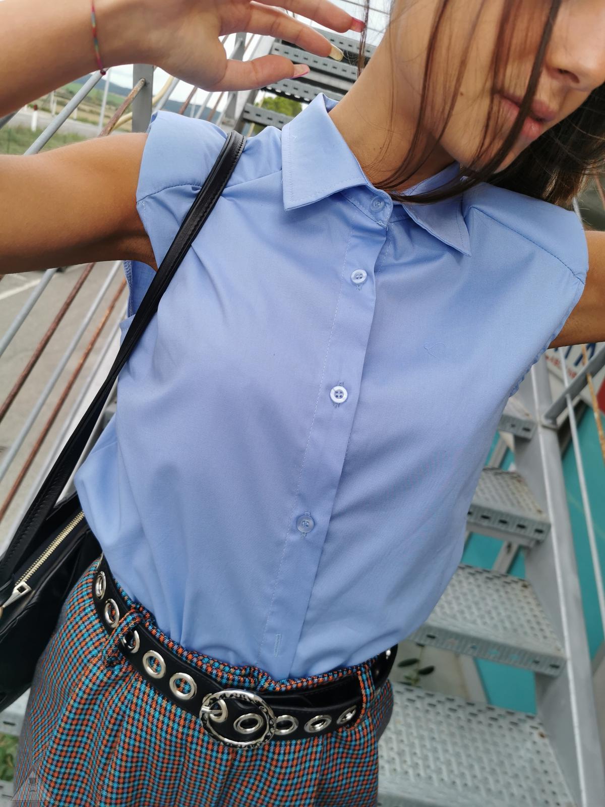 Camicia Spallina Azzurra