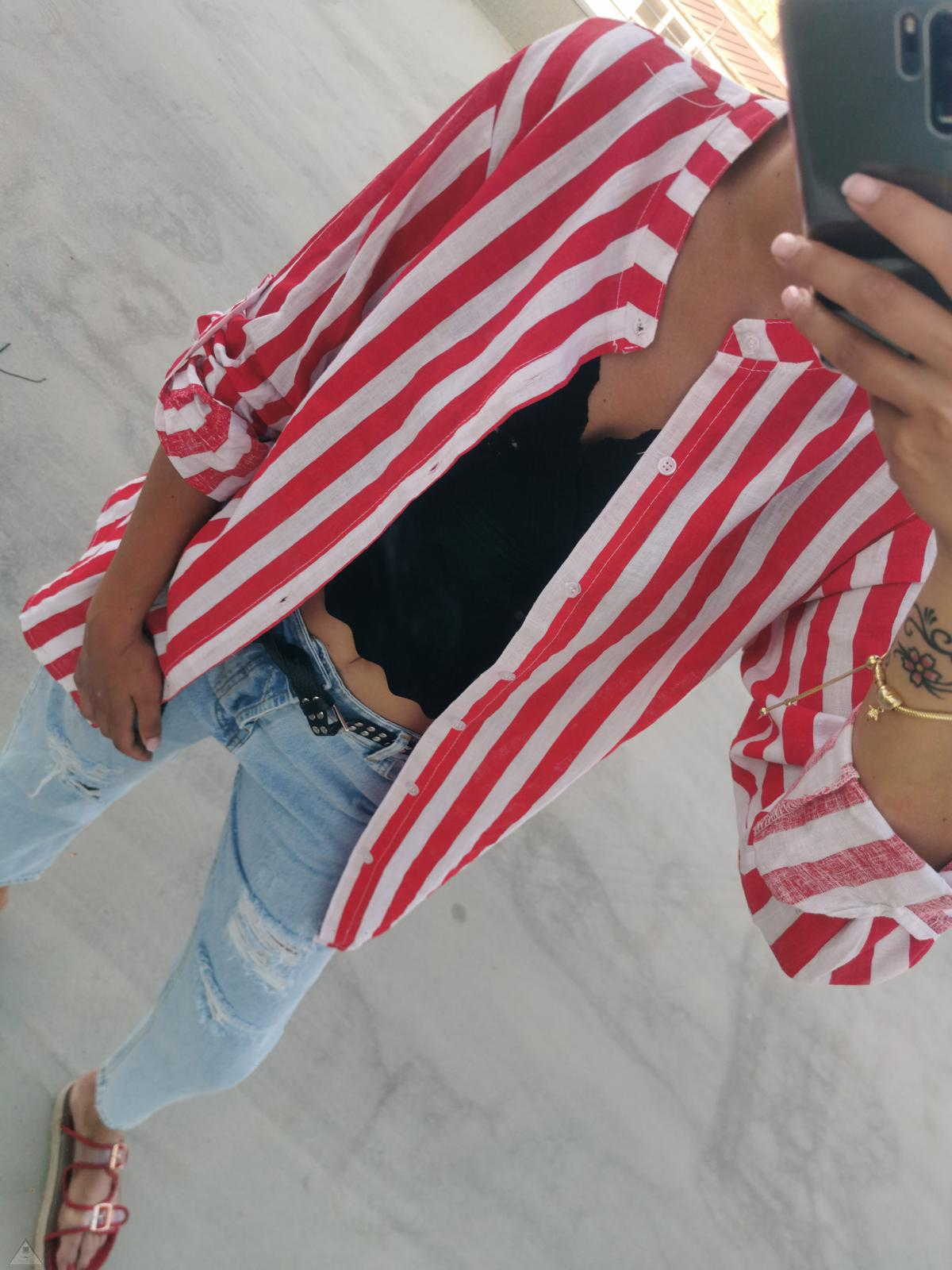 Camicia Stripes Red