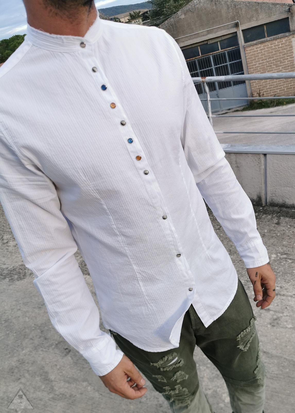 Camicia white clip
