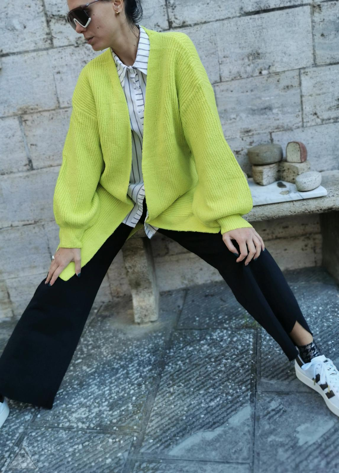 Cardigan Over Lime