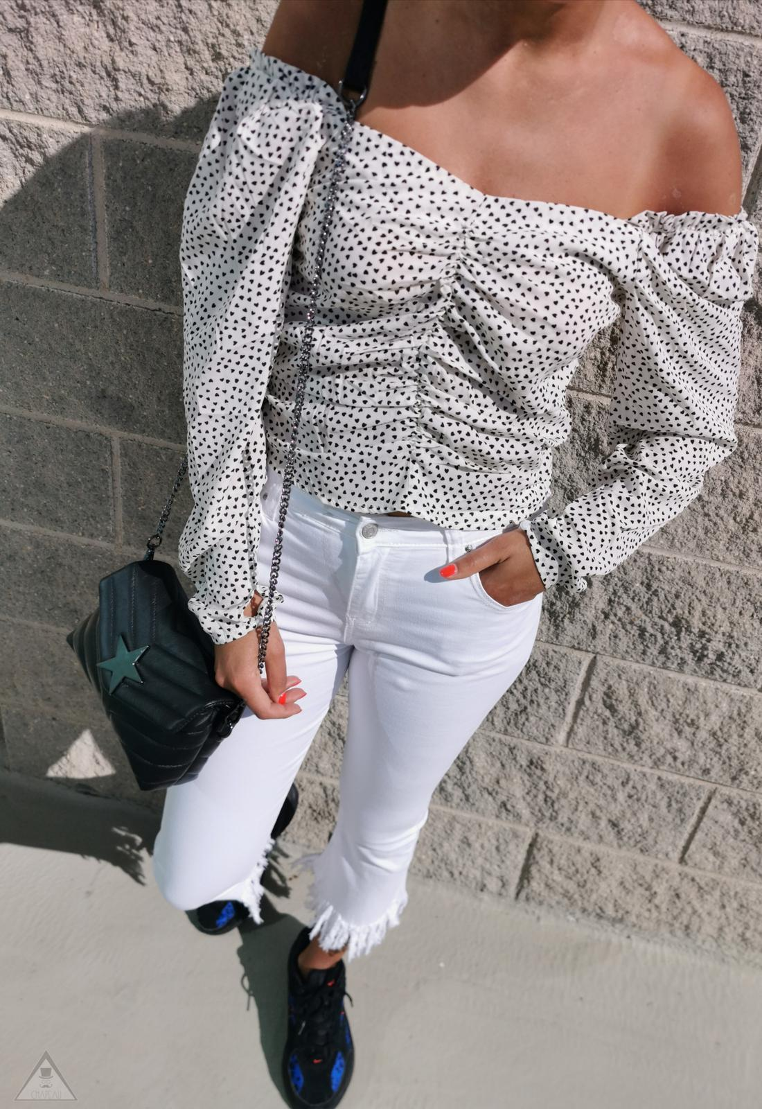 Crop Top Cuore White
