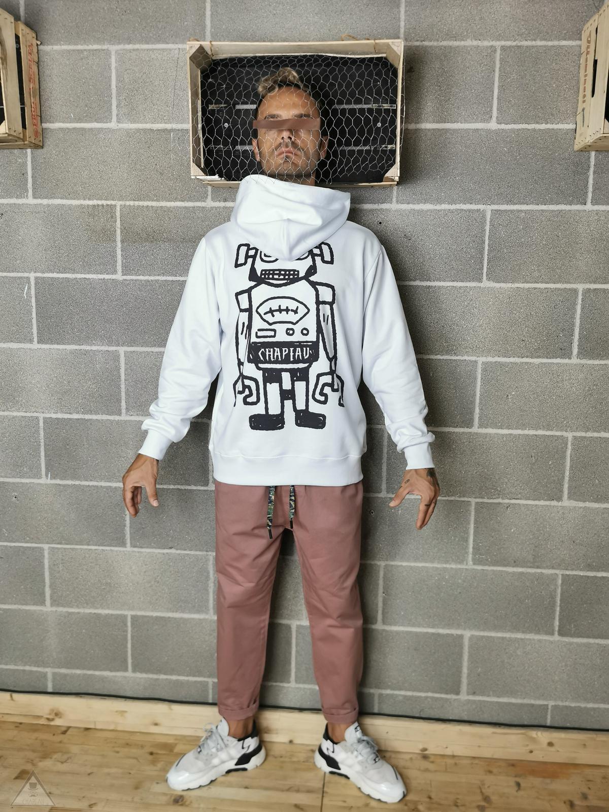 Felpa Cappuccio Robot