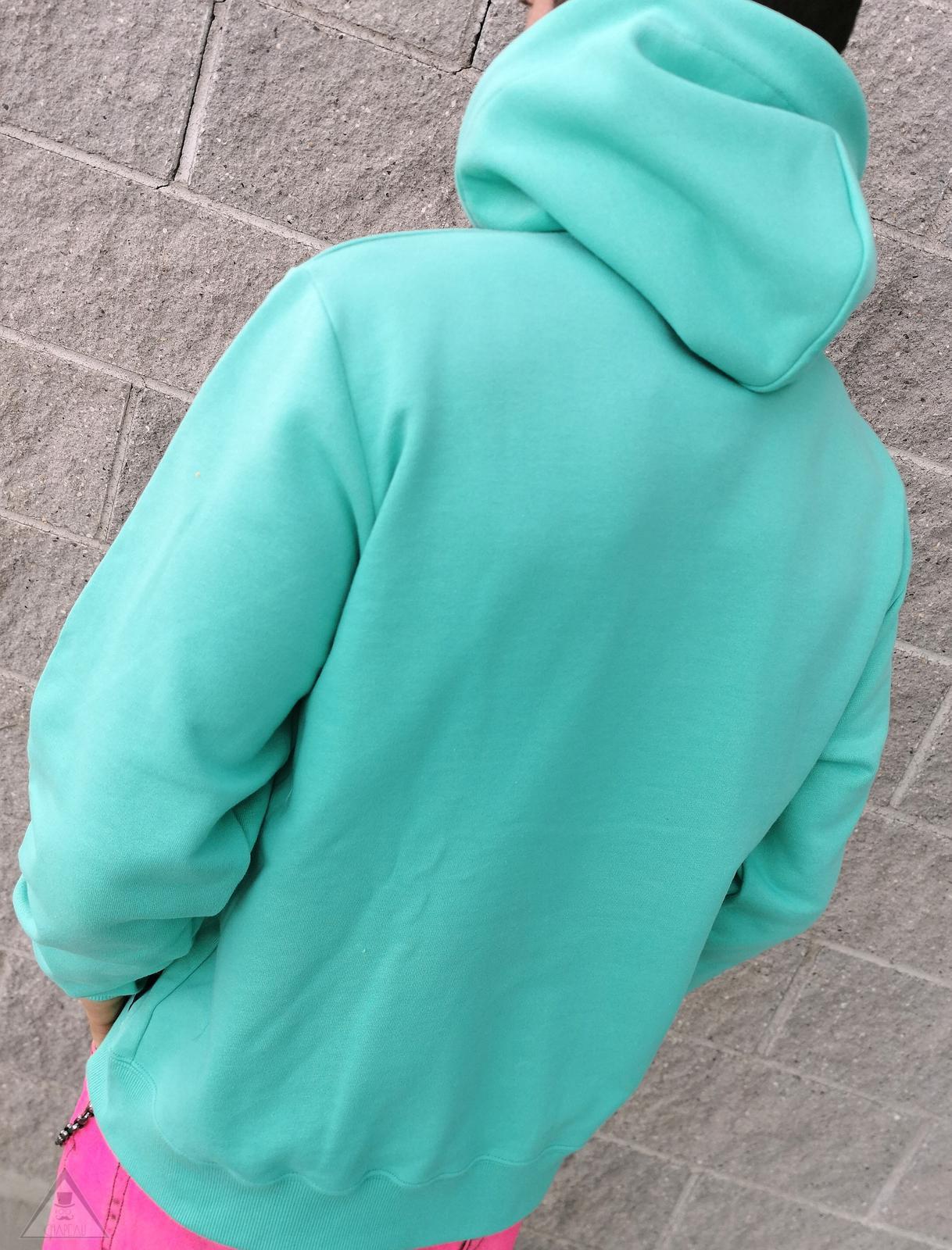 Felpa Cappuccio Verde Tiffany