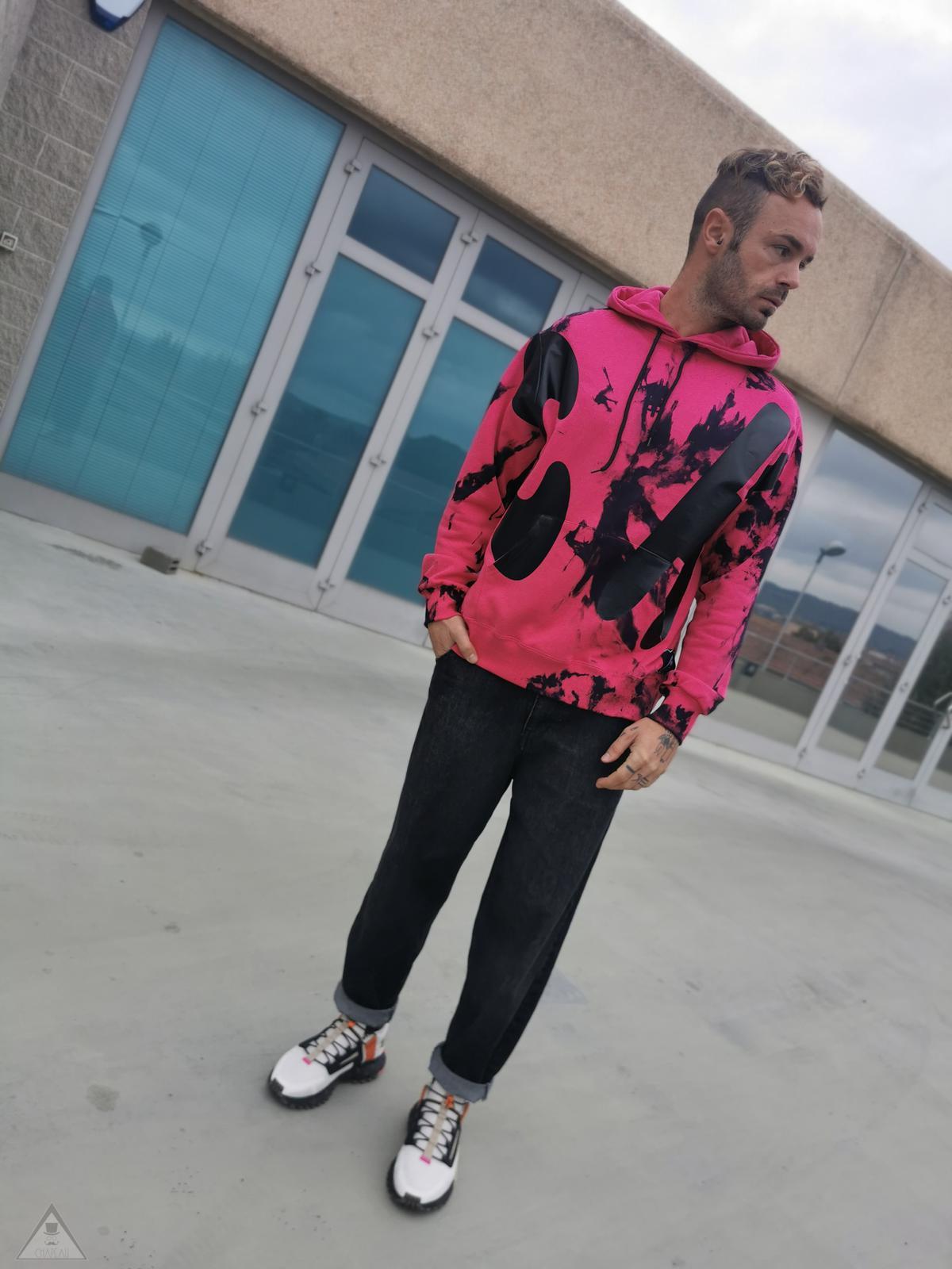 Felpa Fuxia Tie dye Big
