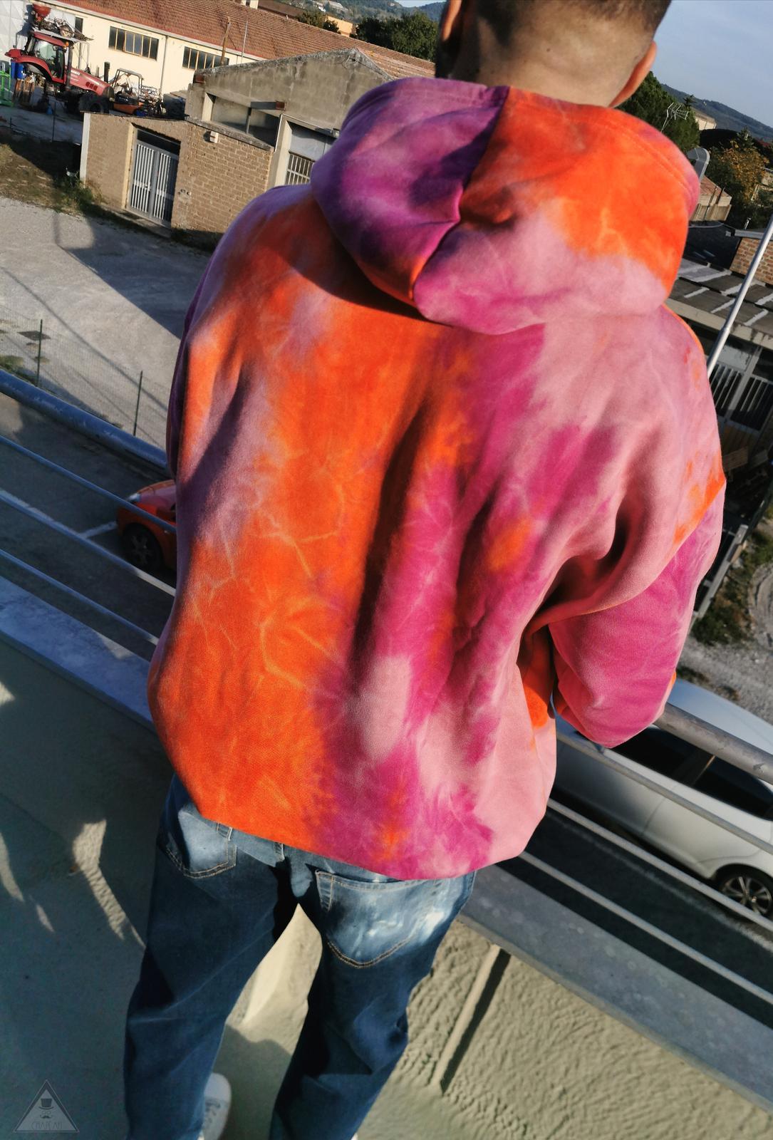 Felpa Tie Dye Arancio