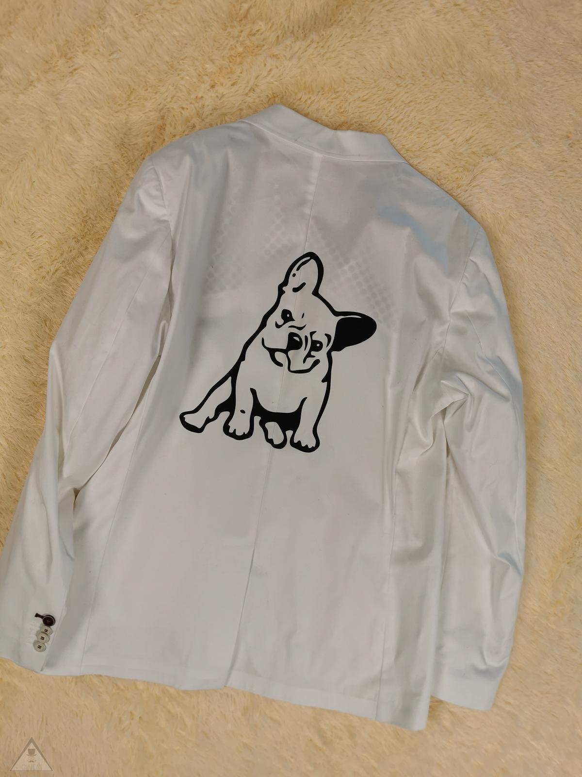 Giacca Bulldog bianca