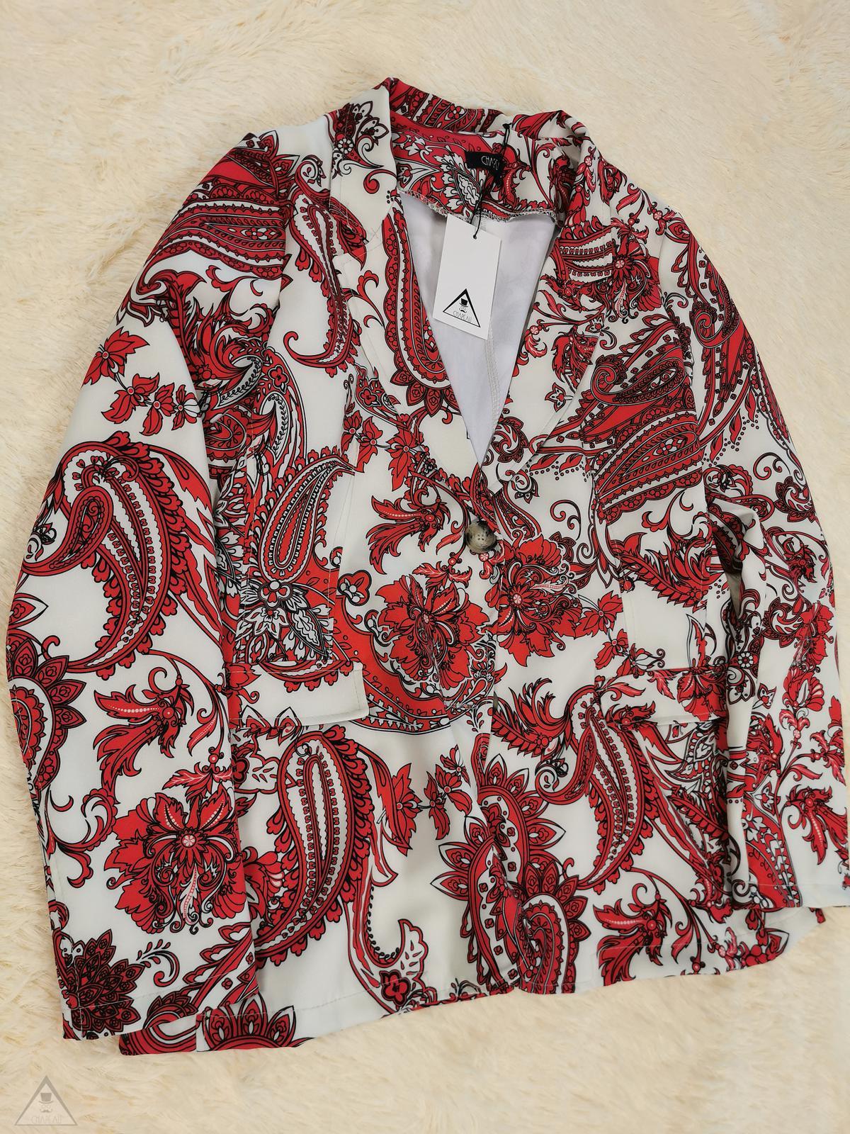 Giacca Damasco Red