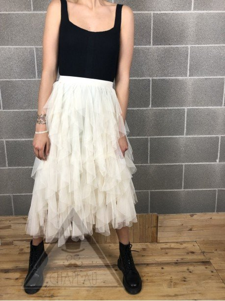 Gonna in Tulle Crema
