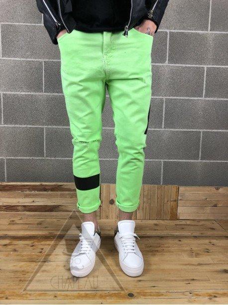 Jeans Acid Fluo