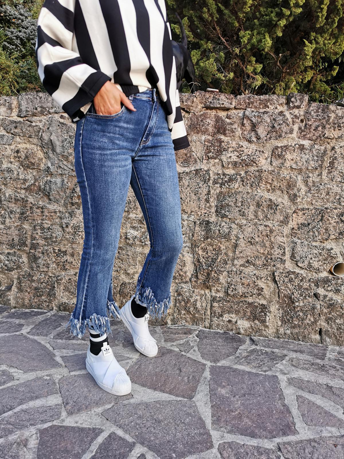 Jeans frangia
