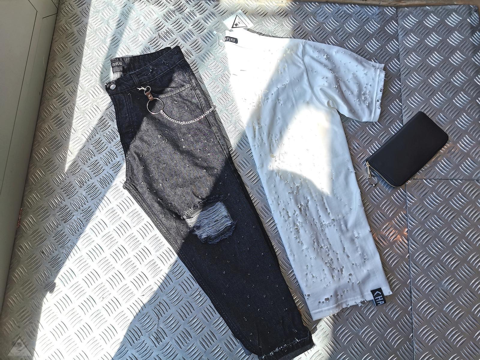 Jeans Fucilata destroyed