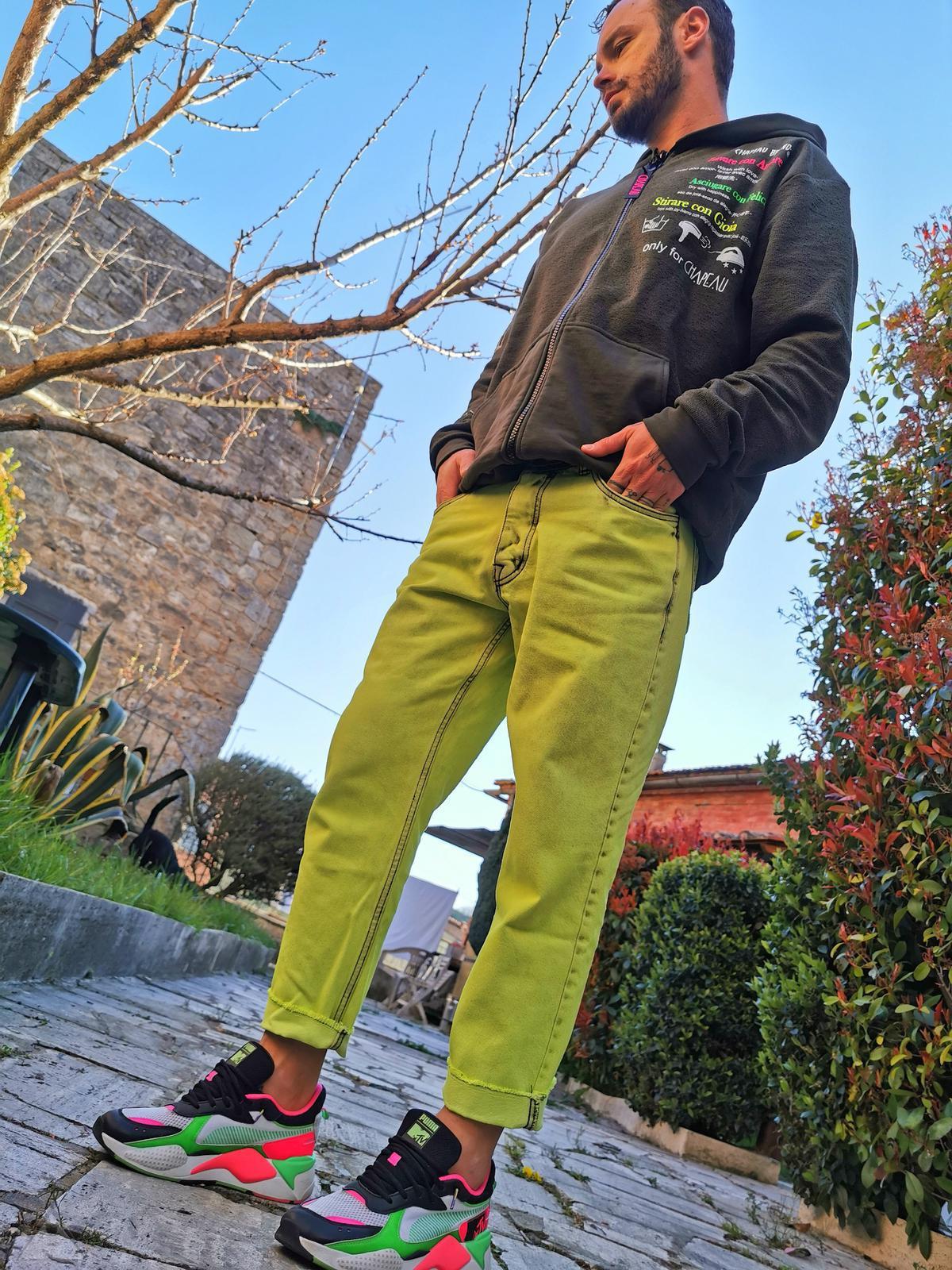 Jeans Giallo Fluo