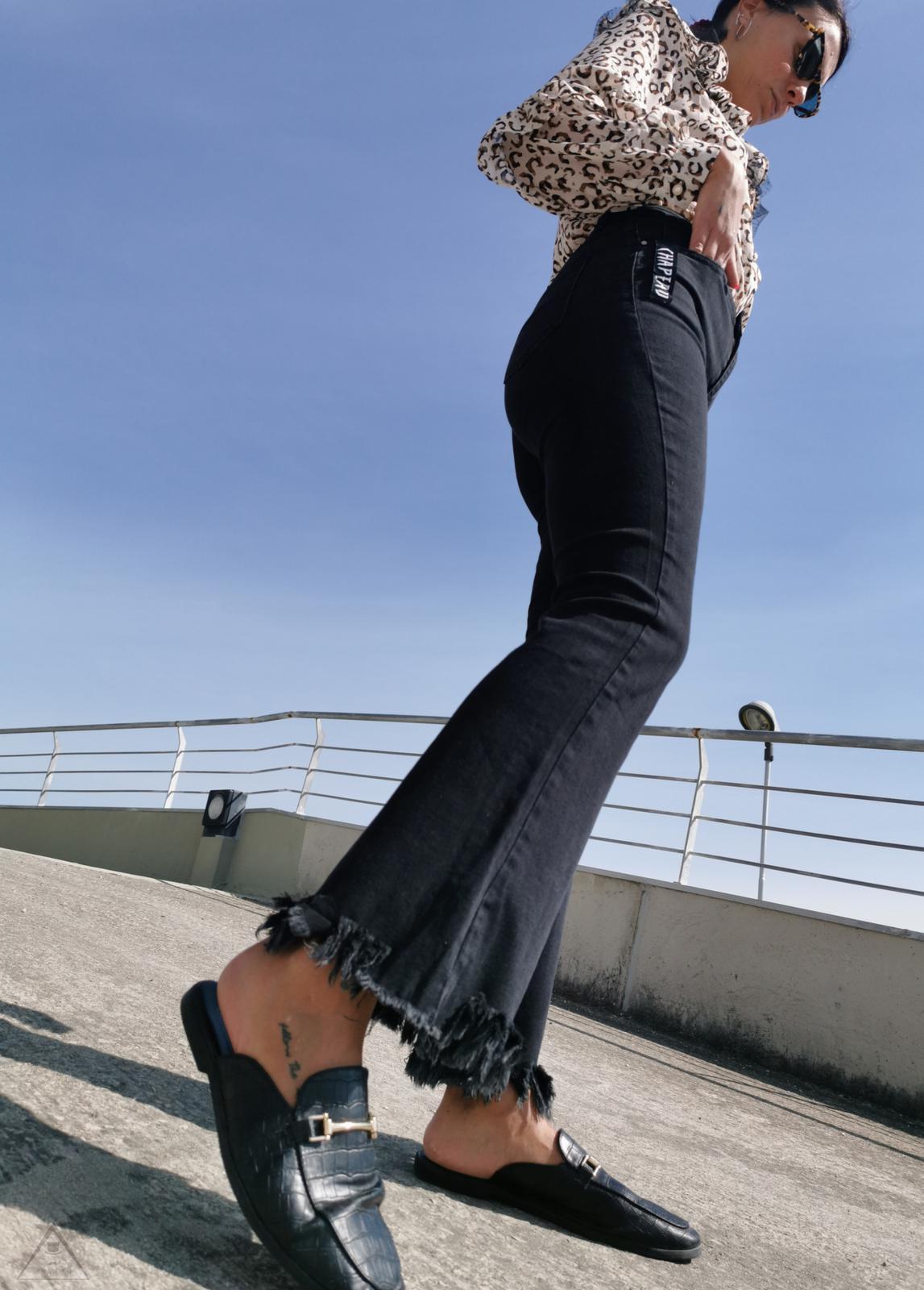 Jeans Sfrangiato Antracite