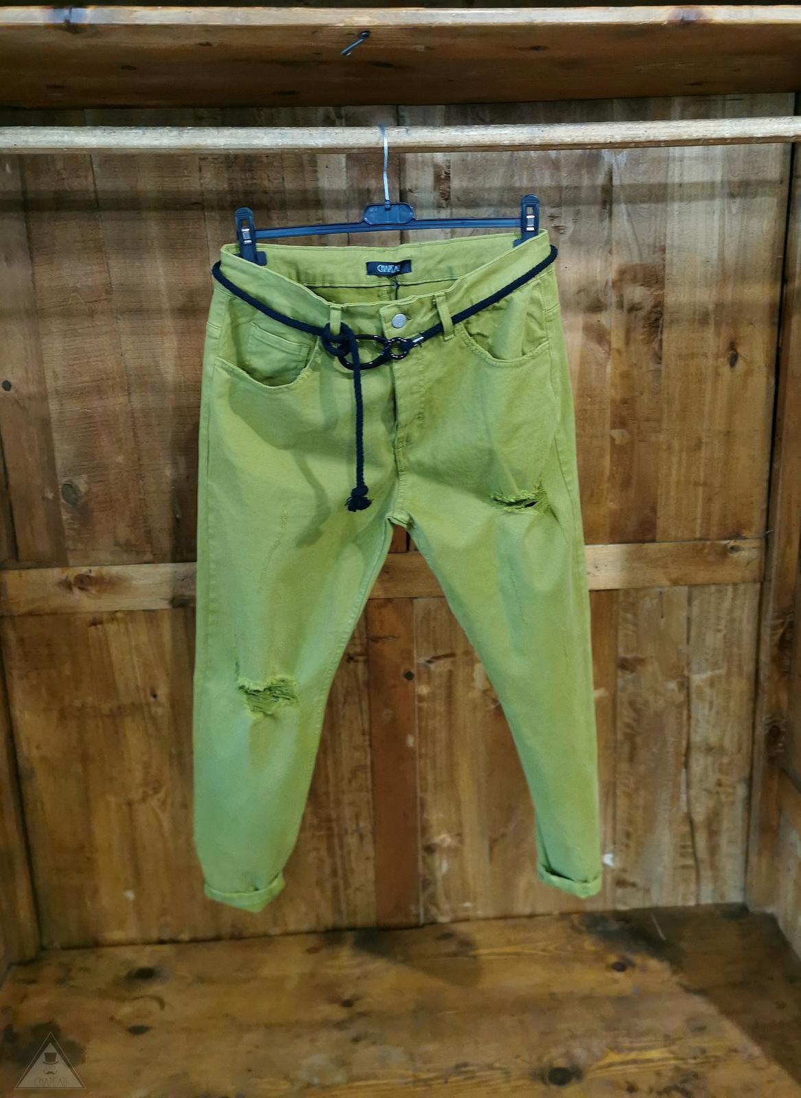 Jeans  Verde  Acido