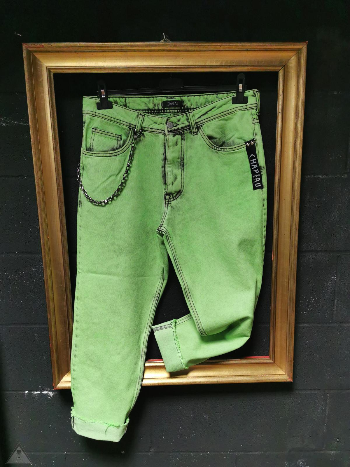 Jeans Verde Fluo
