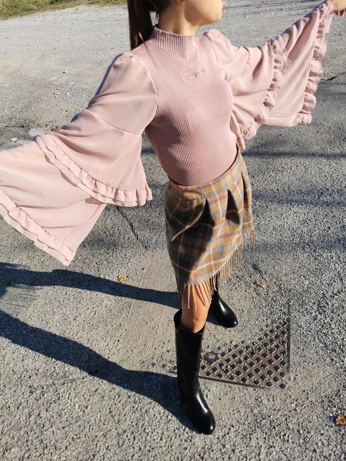 Maglia Farfalla Rosa Antico