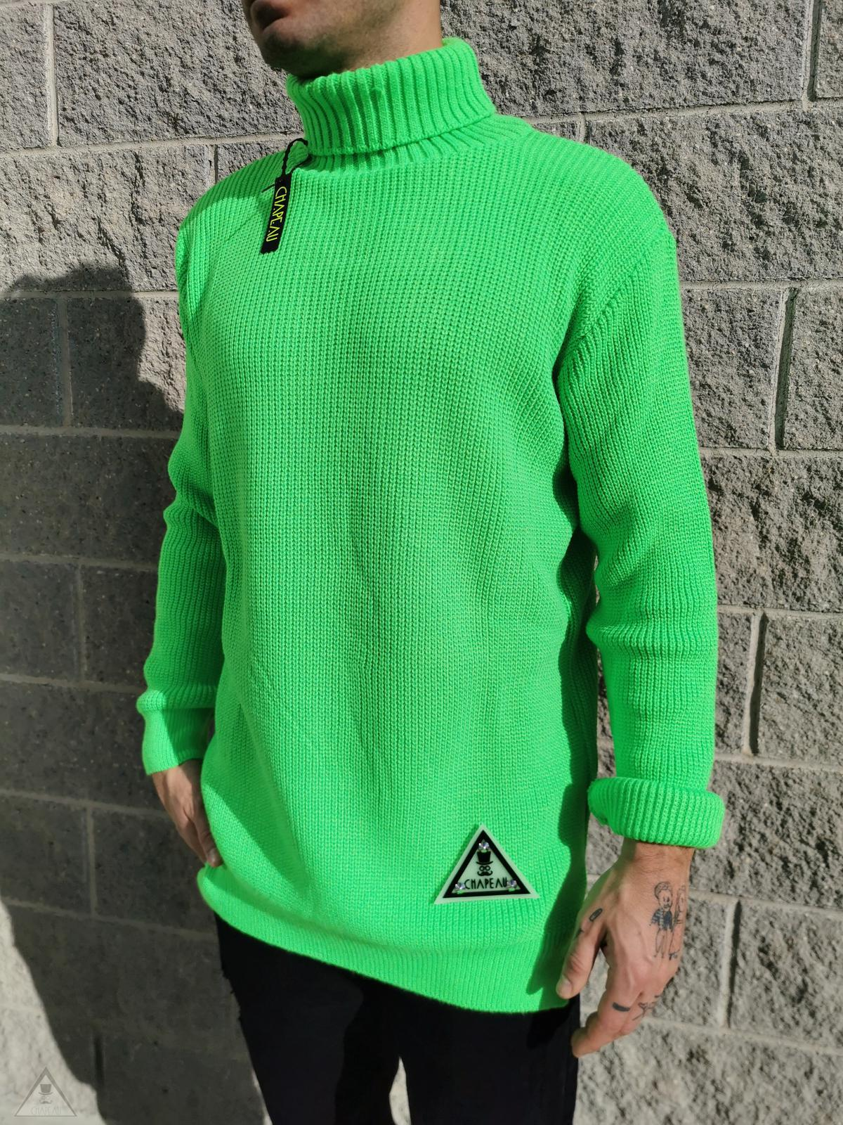 Maglione Authentic Verde Fluo