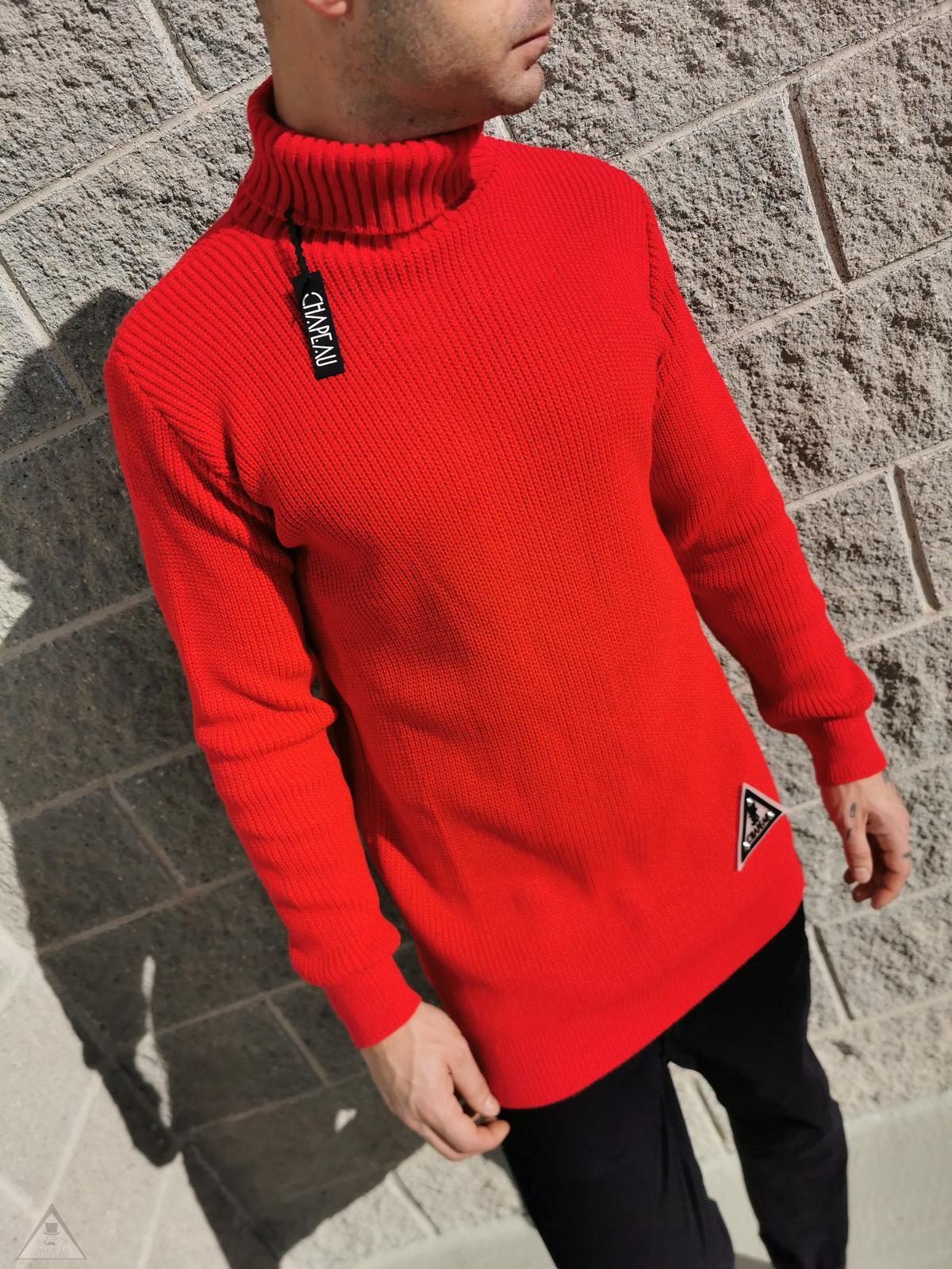 Maglione Authentic Rosso