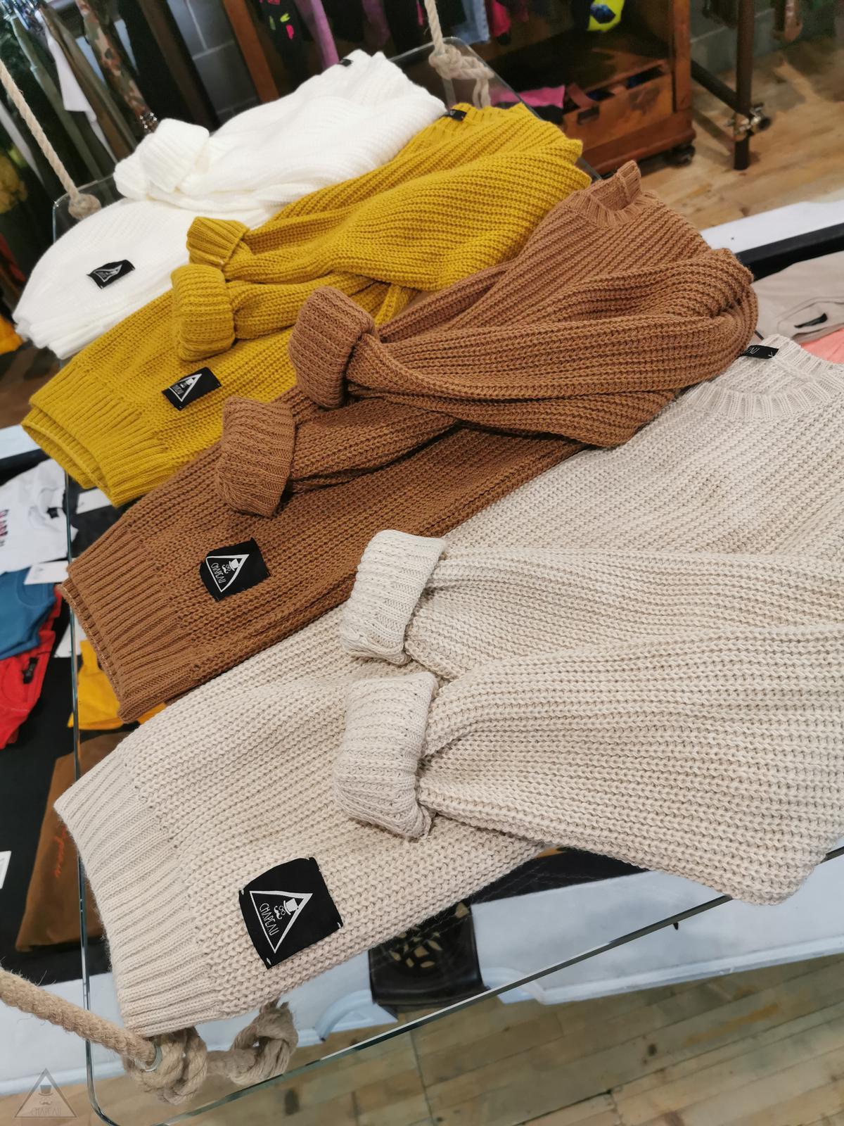 Maglione Girocollo Caramello