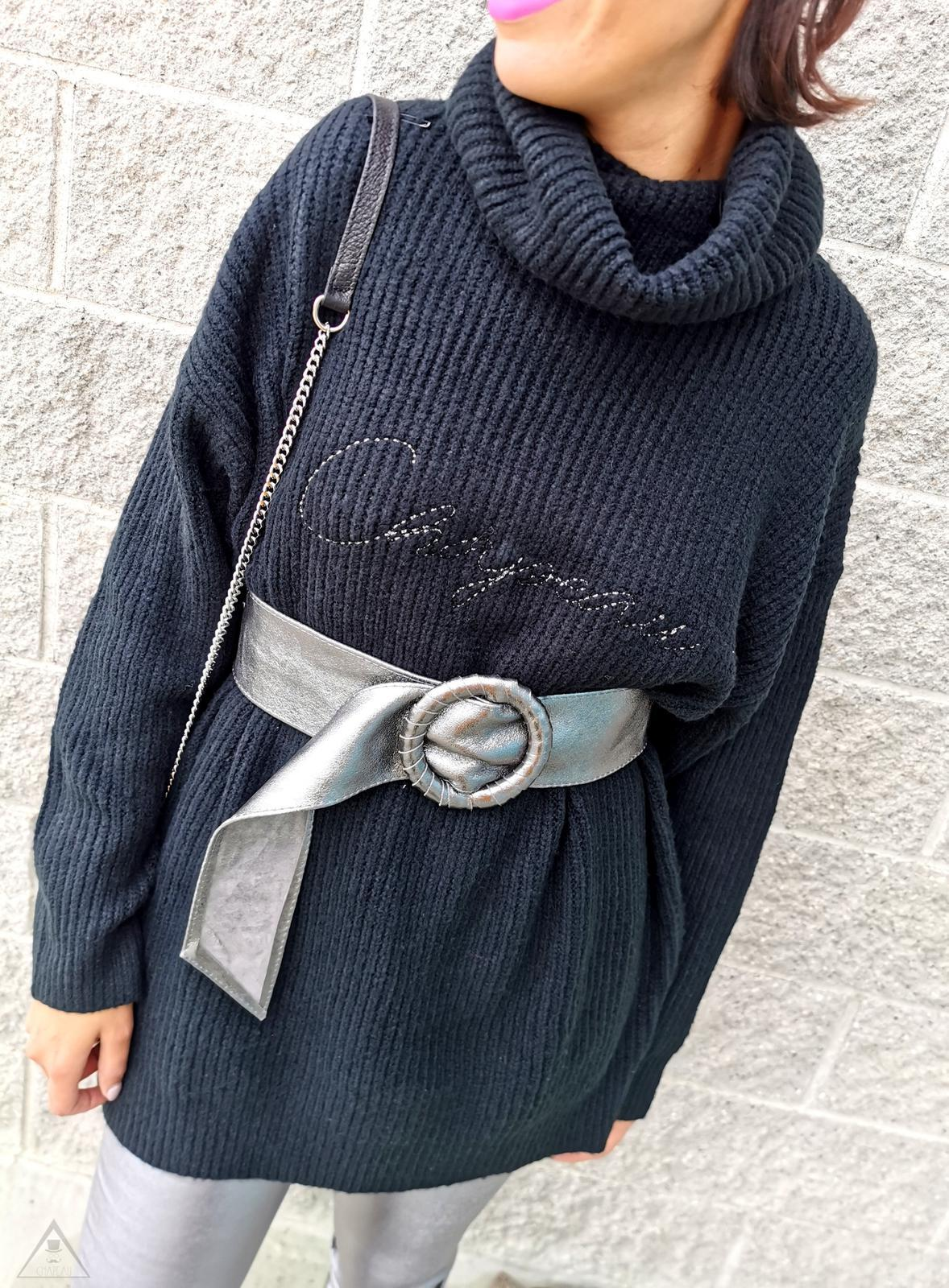 Maglione Oversize Black